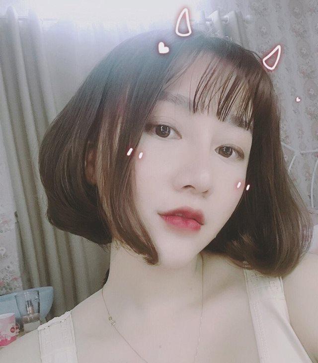 tóc ngắncho mặt tròn