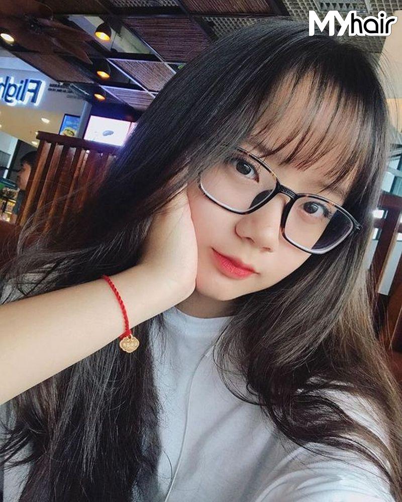 con gái mặt vuông nên đeo kính gì