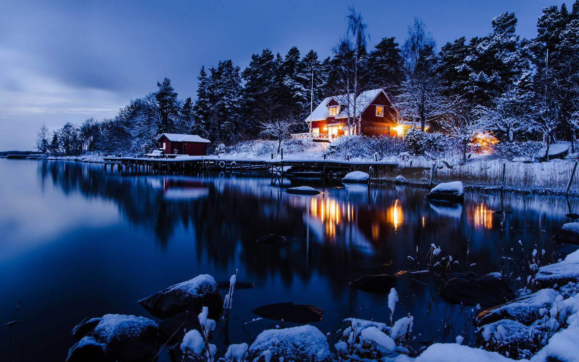 ảnh mùa đông tuyết rơi