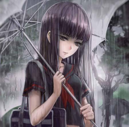 hình nền anime buồn