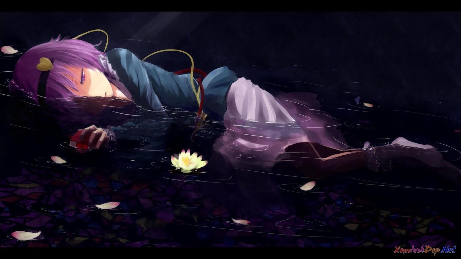 hình ảnh anime boy buồn trắng đen