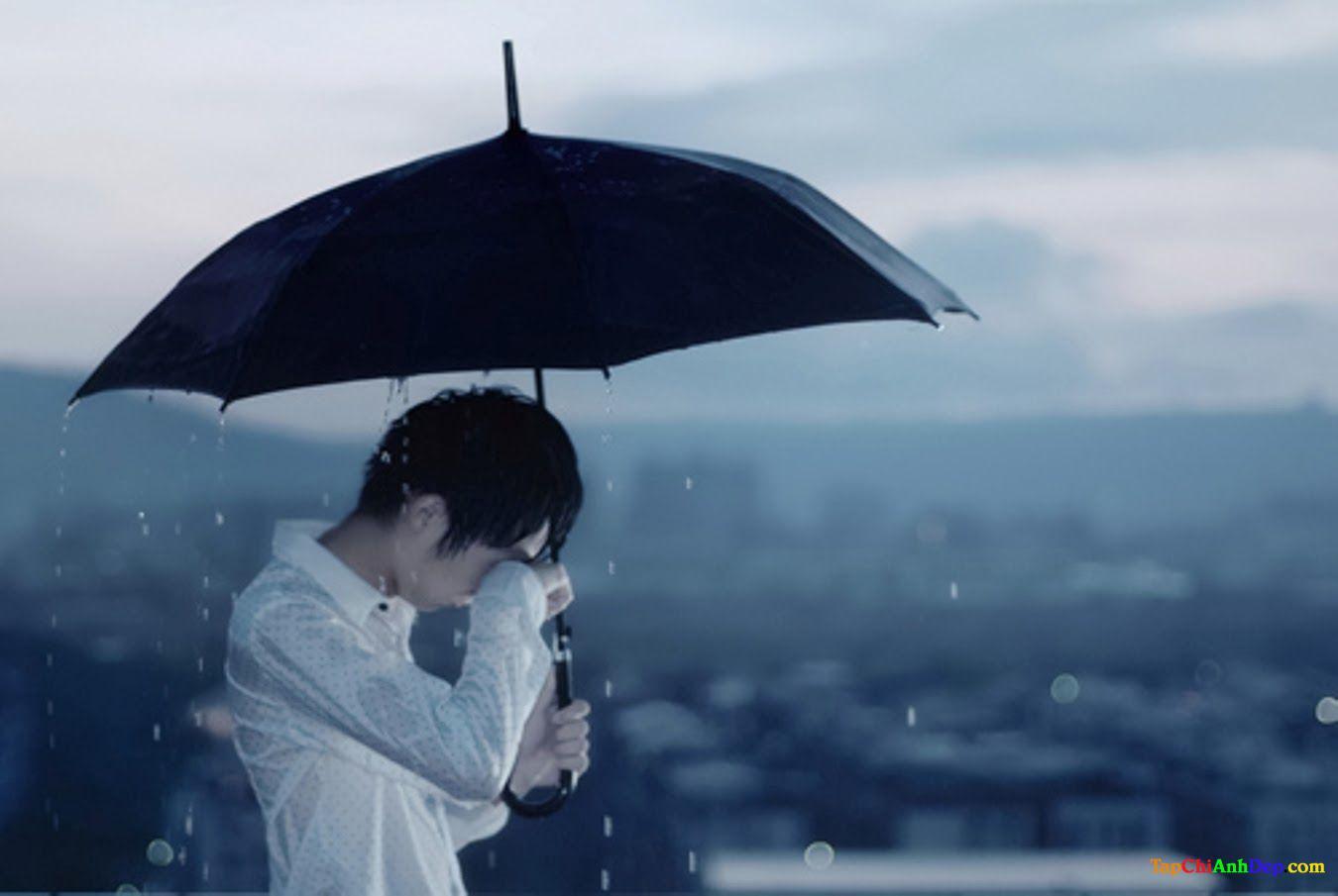 hình ảnh đẹp về tình yêu buồn và mưa