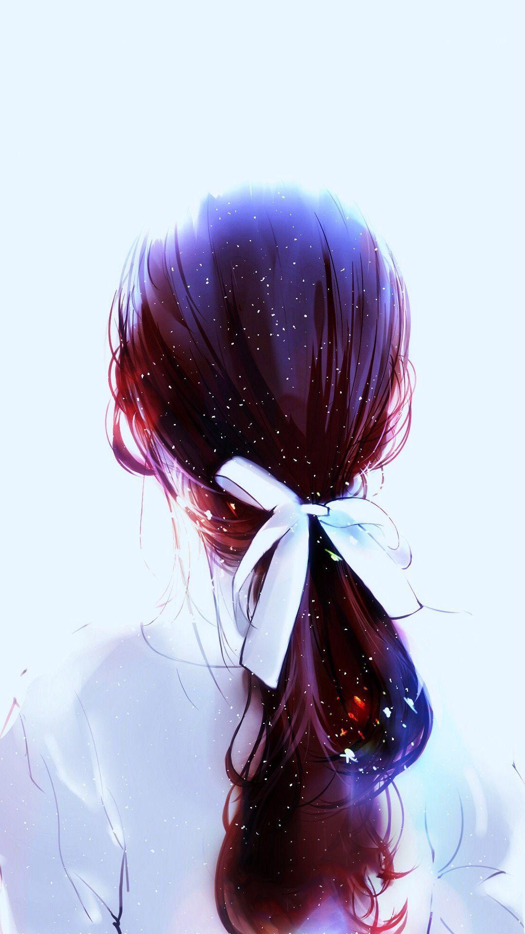 tranh cô gái buồn