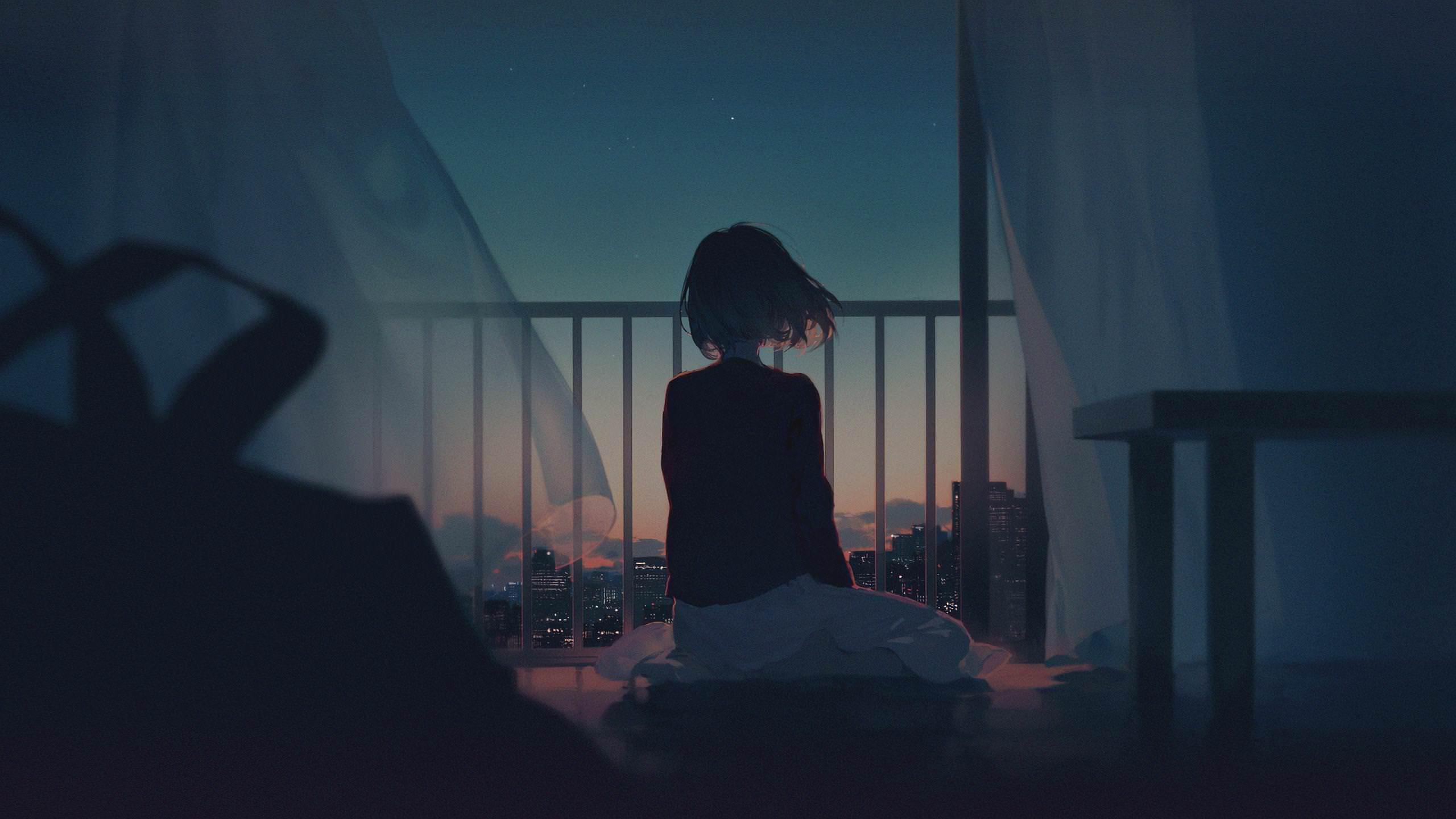 ảnh cô gái cô đơn