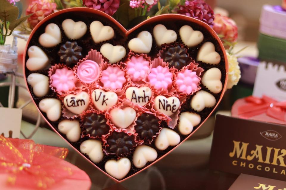 socola hình trái tim đẹp