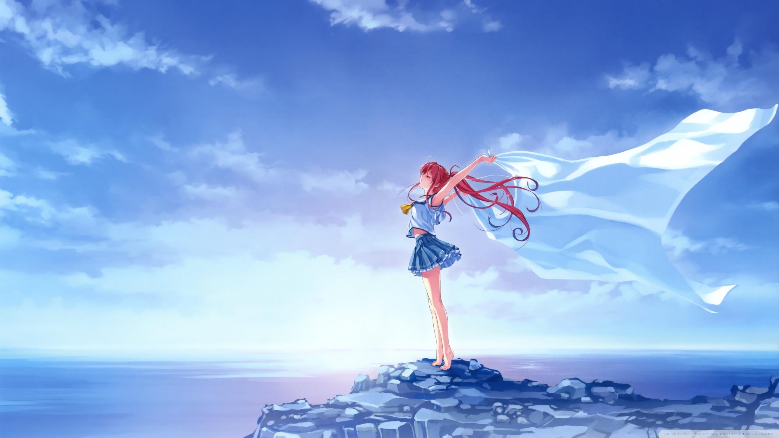 anime nhân vật nữ tóc trắng