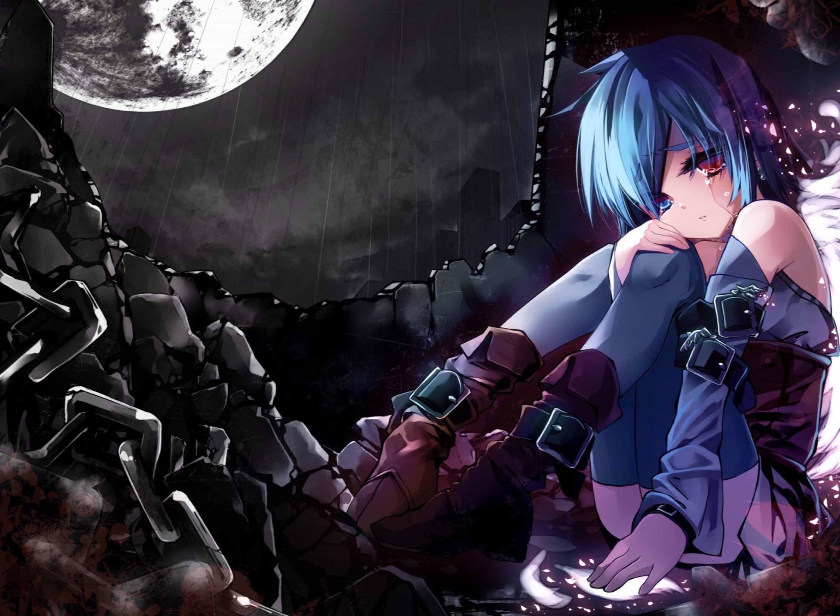 ảnh anime nữ buồn ngầu