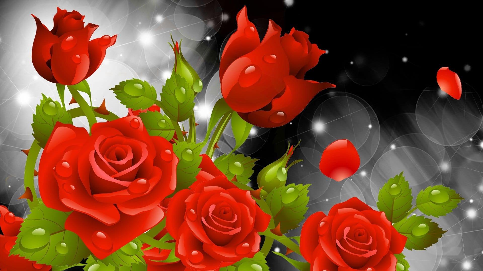 hình nền máy tính hoa hồng leo