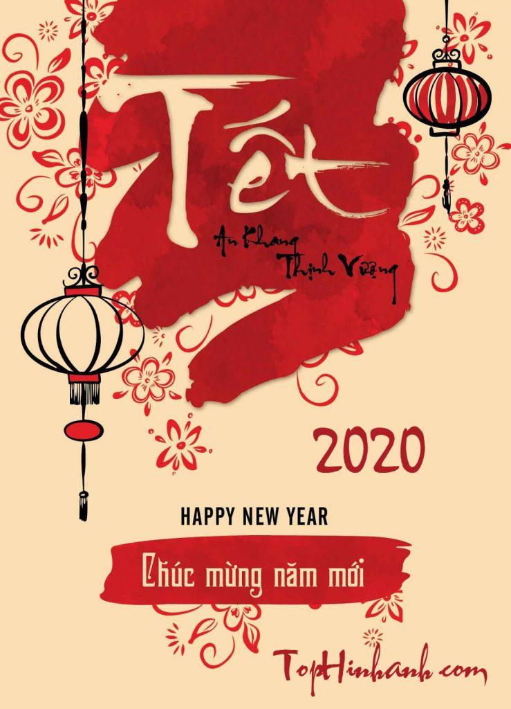thiệp chúc mừng năm mới 2020 đẹp nhất