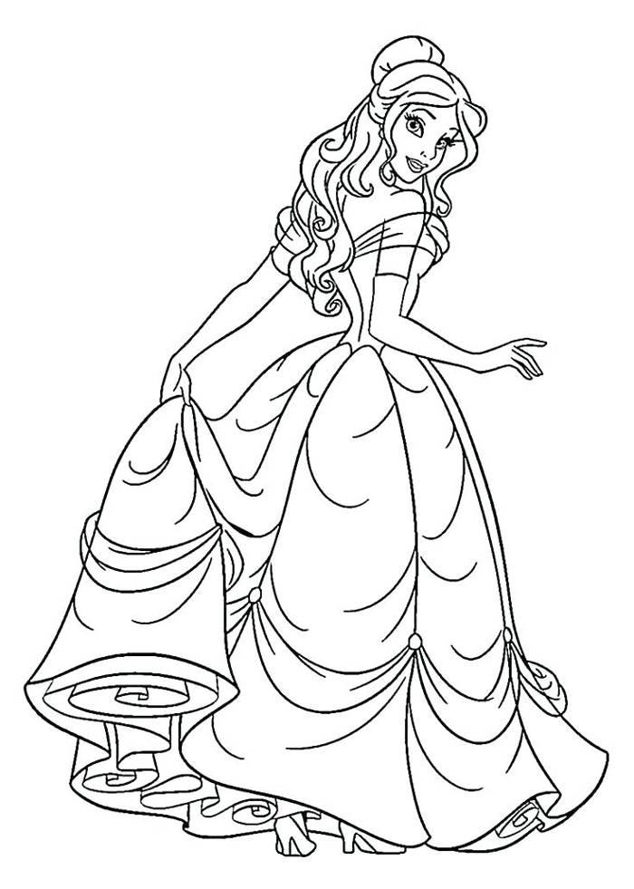 tải tranh tô màu công chúa