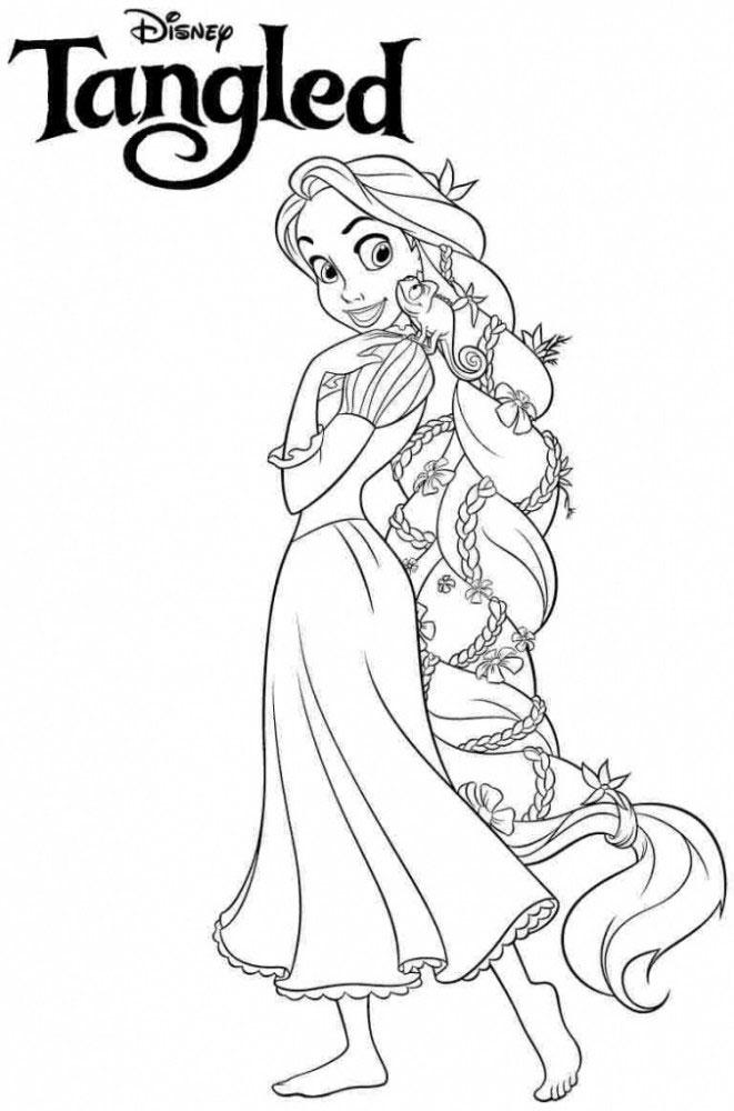 tranh công chúa cho bé tô màu