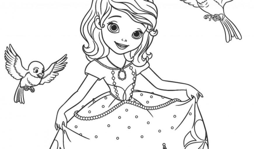 in tô màu công chúa
