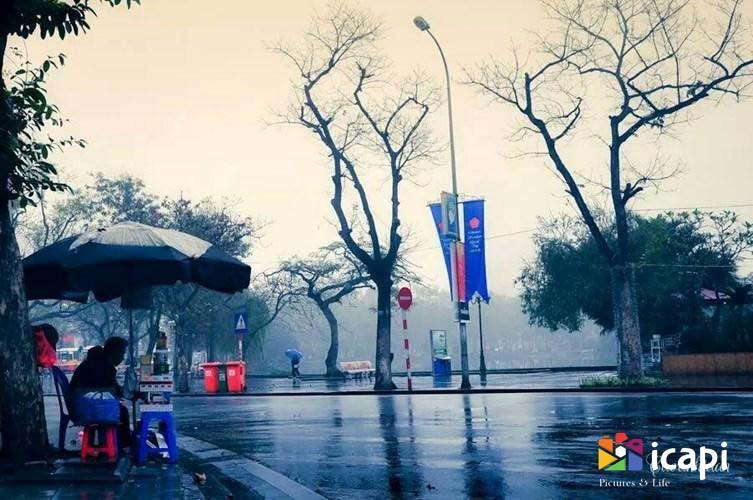 ảnh đẹp về mưa hà nội