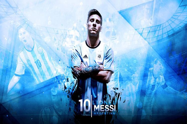 football picture messi