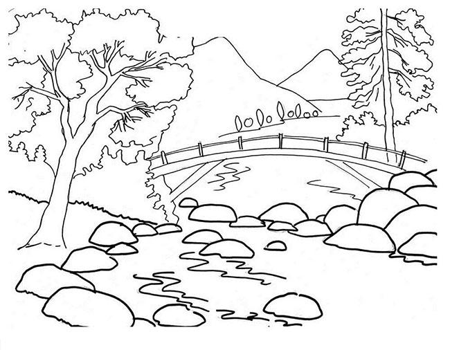 tranh vẽ cây tre