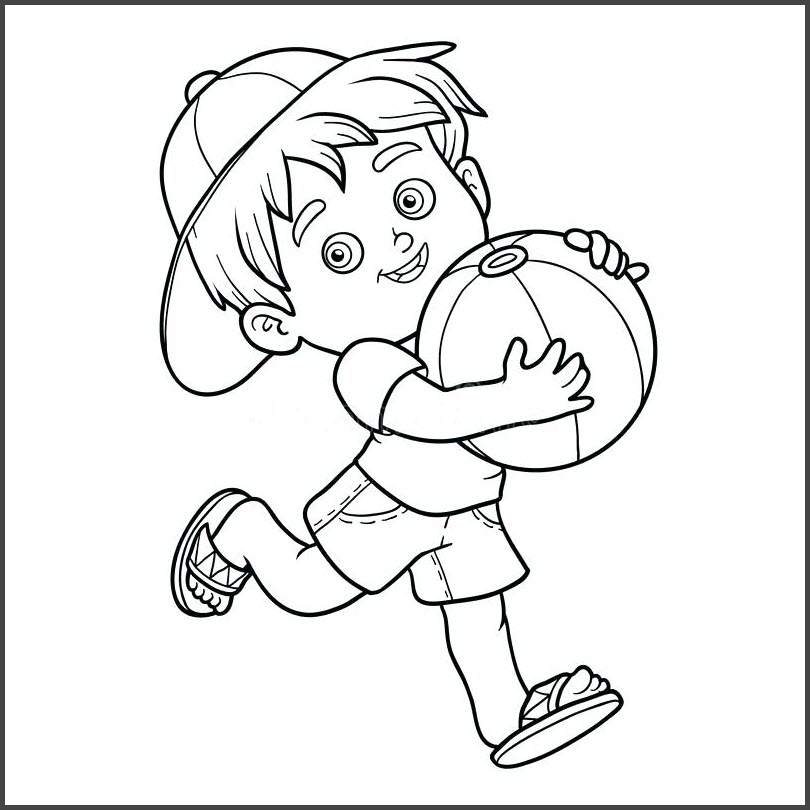 tranh tô màu cho bé trai