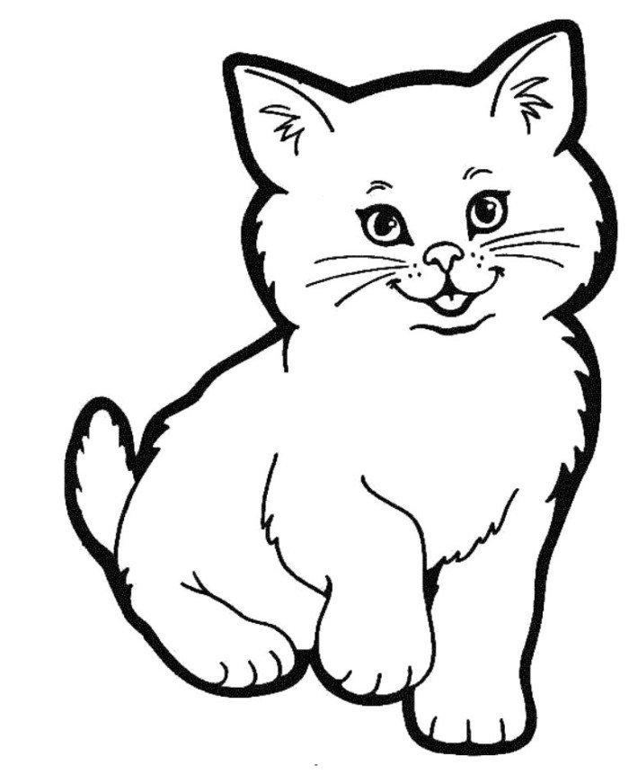 hình tô màu con mèo