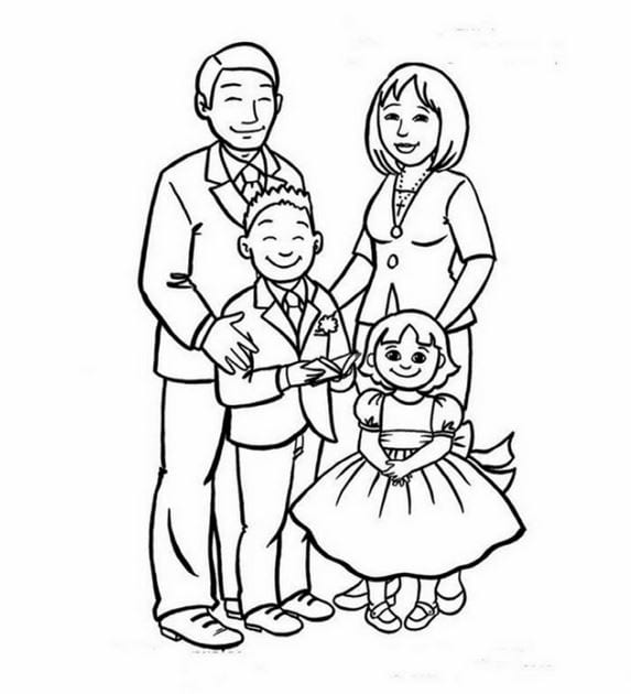 vẽ tranh đề tài gia đình đẹp nhất