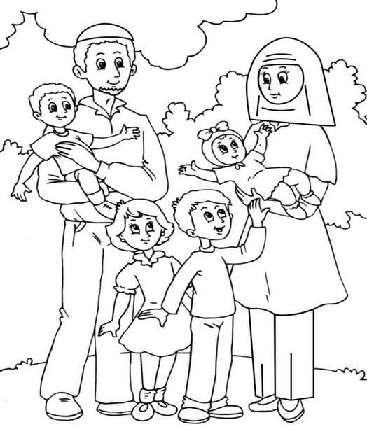 tranh vẽ đề tài gia đình