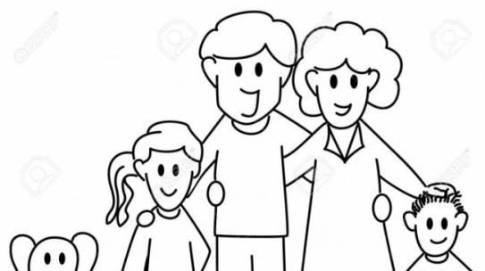 hình vẽ gia đình