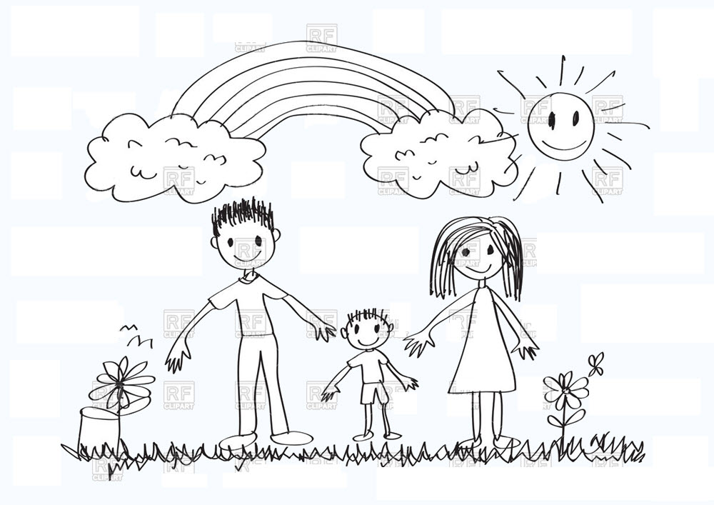 vẽ cảnh sinh hoạt gia đình