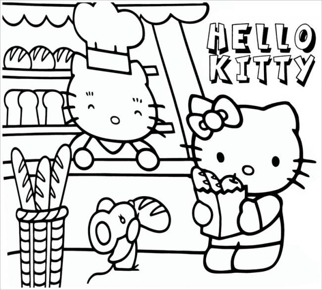 tô màu mèo hello kitty