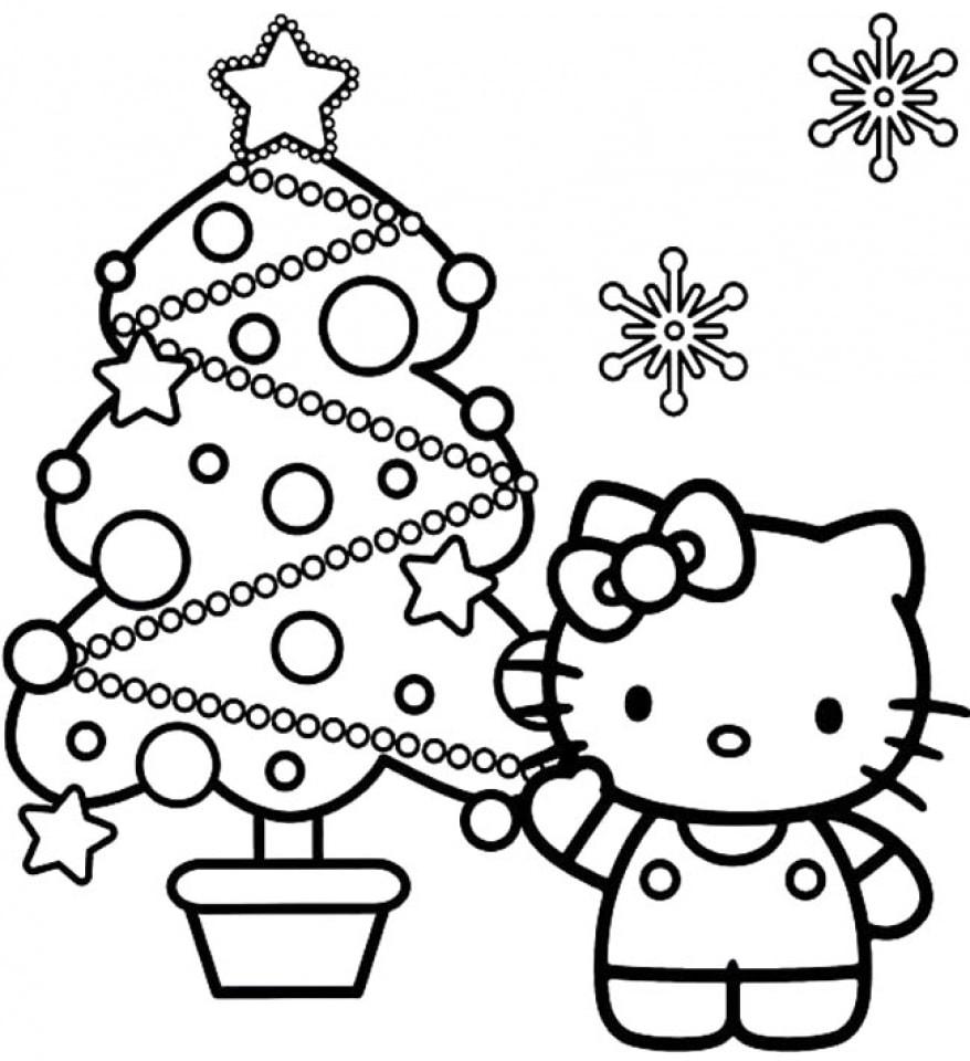 cách vẽ mèo kitty
