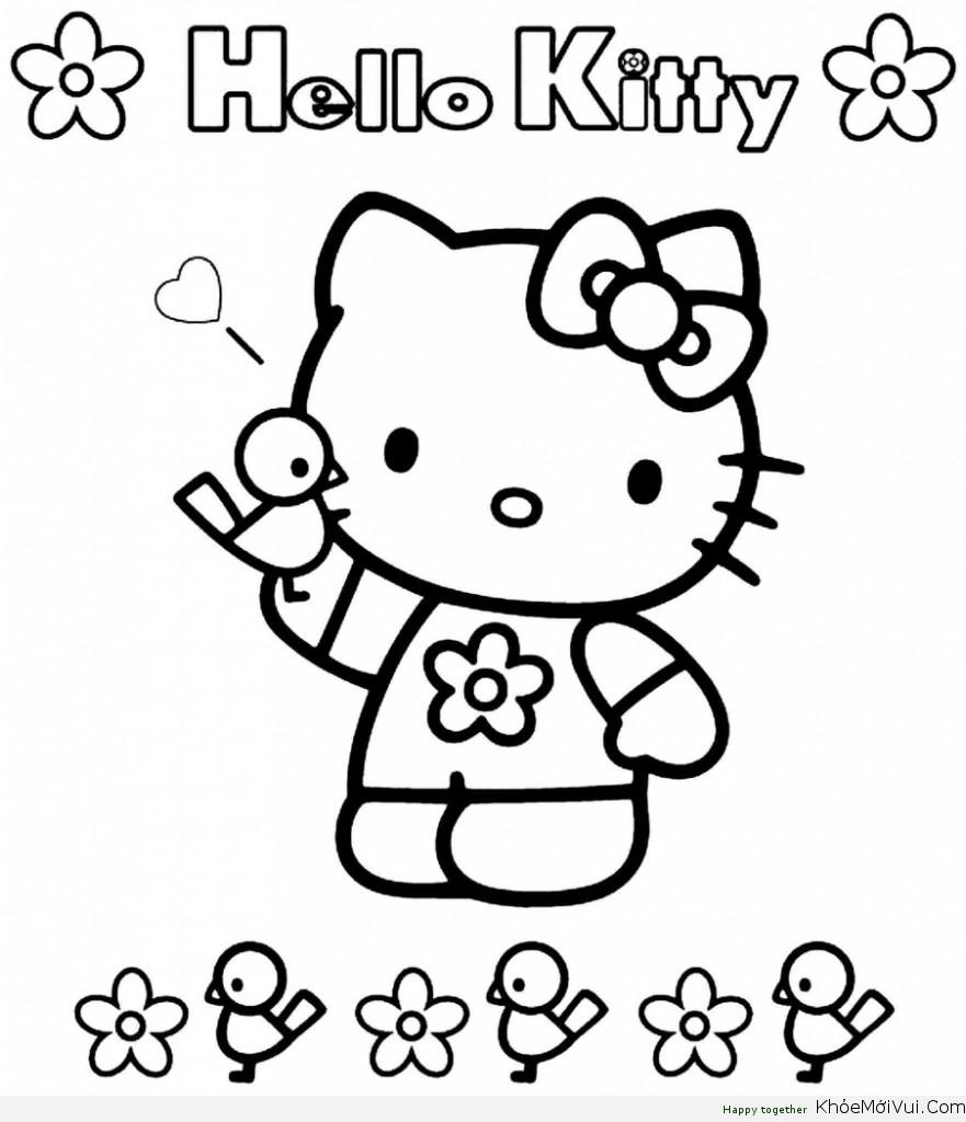 cách vẽ hello kitty