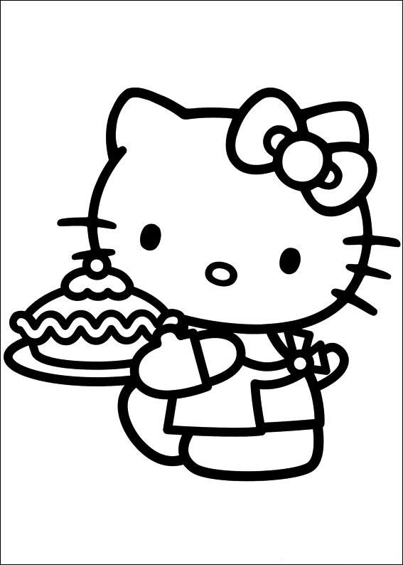 tranh tô màu hình hello kitty