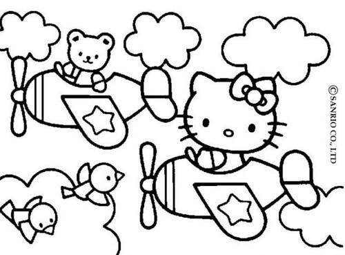 hình ảnh tô màu hello kitty