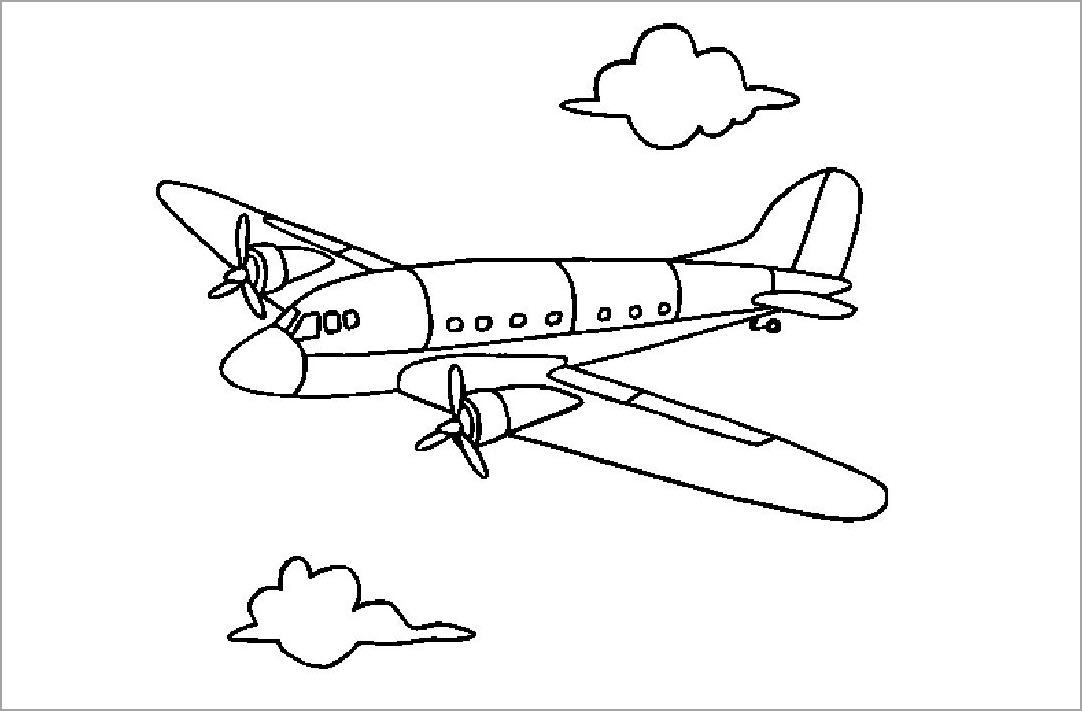 tô màu máy bay