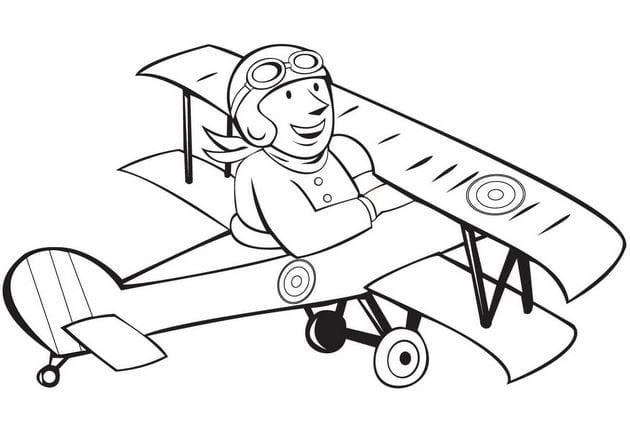 tranh tô màu máy bay