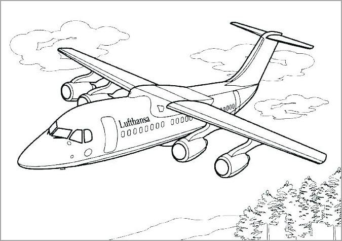 hình vẽ máy bay