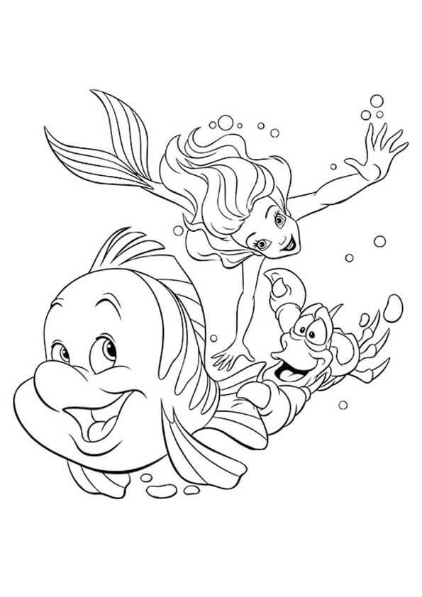 game tô màu nàng tiên cá