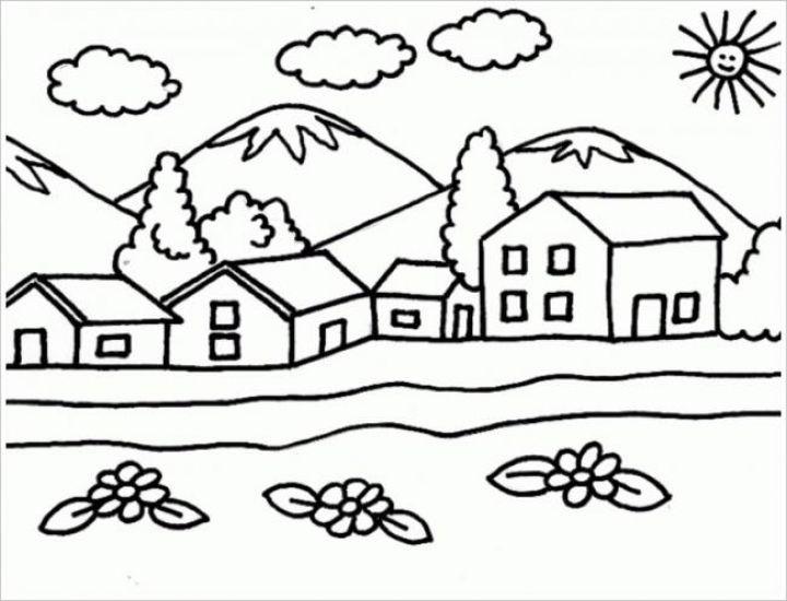 bé vẽ ngôi nhà