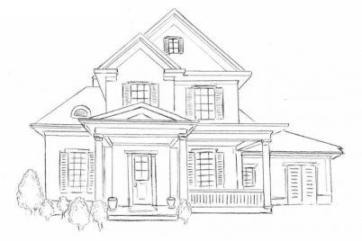 tranh ngôi nhà của bé