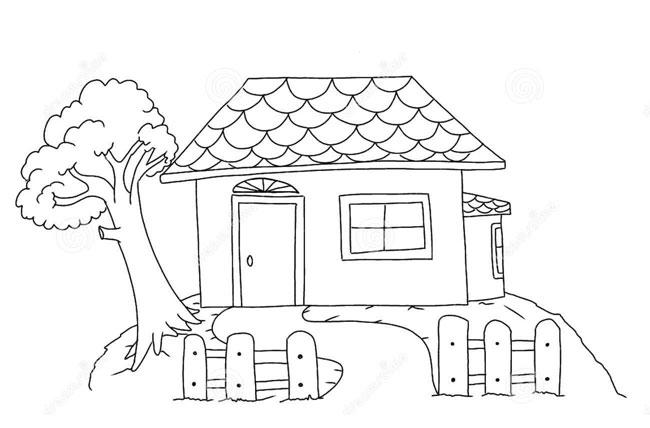 cách vẽ ngôi nhà