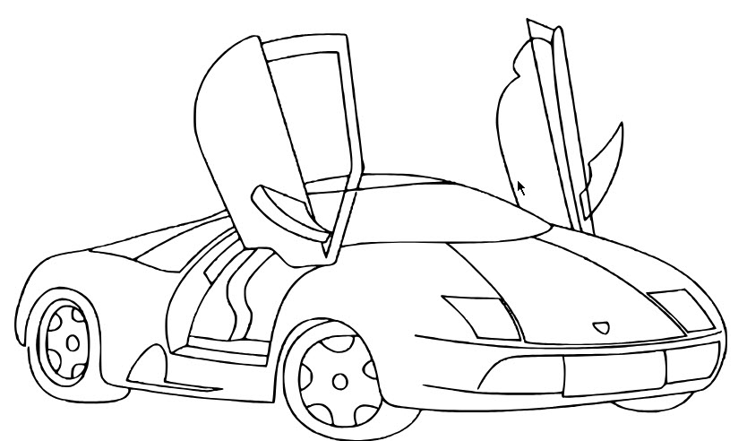 cách vẽ xe ô tô