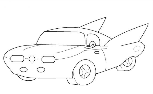 hình vẽ chiếc xe ô tô mơ ước