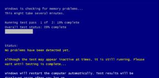 Máy tính bắt đầu kiểm tra Ram