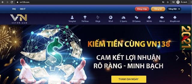 Nhà cái cá cược VN138 - Chơi game bài đổi thưởng thả ga