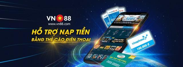 Ảnh 4: Nhà cái VN88 hỗ trợ nạp tiền bằng thẻ cào điện thoại
